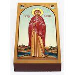 Мученица Иулиания Илиопольская, икона на доске 7*13 см - Иконы