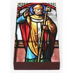 Святитель Луп, епископ Труаский, икона на доске 7*13 см - Иконы