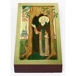 Преподобный Тихон Медынский, Калужский, икона на доске 7*13 см - Иконы
