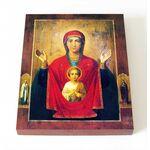 """Икона Божией Матери """"Знамение"""" Абалакская, печать на доске 8*10 см - Иконы"""
