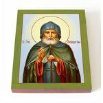 Преподобный Александр Свирский, печать на доске 8*10 см - Иконы