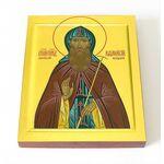 Преподобный Афанасий Высоцкий, младший, икона на доске 8*10 см - Иконы