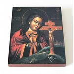 Ахтырская икона Божией Матери, печать на доске 8*10 см - Иконы