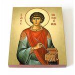 Великомученик и целитель Пантелеимон, доска 8*10 см - Иконы