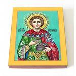 Великомученик и целитель Пантелеимон, икона на доске 8*10 см - Иконы
