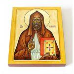 Преподобный Галл Ирландский, просветитель Швейцарии, доска 8*10 см - Иконы