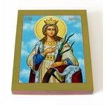 Великомученица Екатерина Александрийская, икона на доске 8*10 см - Иконы