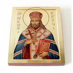 Святитель Иннокентий Иркутский, икона на доске 8*10 см - Иконы