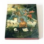 Преподобный Иоанн Печерский, Многострадальный, доска 8*10 см - Иконы