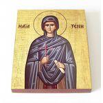 Преподобная Ксения Миласская, диакониса, икона на доске 8*10 см - Иконы