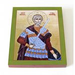 Мученик Маврикий Апамейский, икона на доске 8*10 см - Иконы