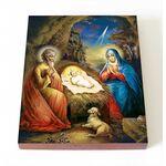 Рождество Христово, печать на доске 8*10 см - Иконы
