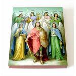 Собор Архангела Михаила, икона на доске 8*10 см - Иконы