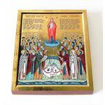 Собор Валаамских святых, икона на доске 8*10 см - Иконы