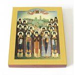 Собор преподобных Глинских старцев, икона на доске 8*10 см - Иконы