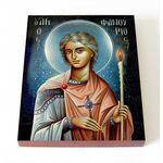 Великомученик Фанурий Родосский, икона на доске 8*10 см - Иконы