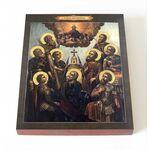 Девять мучеников Кизических, икона на доске 8*10 см - Иконы