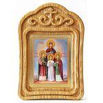 Мученицы Вера, Надежда, Любовь и мать их София, резная рамка - Иконы