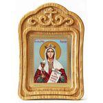 Великомученица Варвара Илиопольская, икона в резной рамке - Иконы