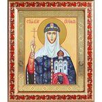Равноапостольная княгиня Ольга, икона в рамке с узором 19*22,5 см - Иконы