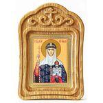 Равноапостольная княгиня Ольга, икона в резной деревянной рамке - Иконы