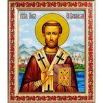 Преподобный Лев, епископ Катанский, рамка с узором 19*22,5 см - Иконы