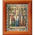 Собор Ростовских святых, икона в рамке 8*9,5 см - Иконы