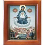 Явление Пресвятой Богородицы в Архангельске, икона в рамке 12,5*14,5см - Иконы