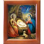 Рождество Христово, открытка в рамке 12,5*14,5 см - Иконы