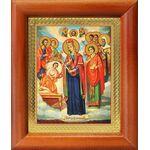 """Икона Богородицы """"Целительница"""" и святые врачеватели, рамка 8*9,5 см - Иконы"""