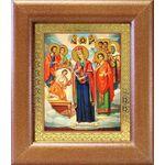 """Икона Богородицы """"Целительница"""" и святые врачеватели, рамка 14,5*16,5 - Иконы"""