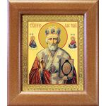 Святитель Николай Чудотворец в красном облачении, рамка 14,5*16,5 см - Иконы