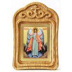 Ангел Хранитель ростовой, резная деревянная рамка - Иконы
