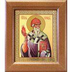Святитель Спиридон Тримифунтский, икона в широкой рамке 14,5*16,5 см - Иконы