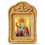 Святитель Спиридон Тримифунтский, икона в резной рамке - Иконы