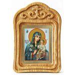 """Икона Божией Матери """"Неувядаемый Цвет"""", резная рамка - Иконы"""