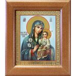 """Икона Божией Матери """"Неувядаемый Цвет"""", широкая рамка 14,5*16,5 см - Иконы"""