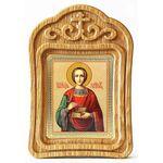 Великомученик и целитель Пантелеимон, икона в резной рамке - Иконы