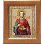 Великомученик и целитель Пантелеимон, в широкой рамке 14,5*16,5 см - Иконы