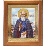 Преподобный Сергий Радонежский, икона в широкой рамке 19*22,5 см - Иконы