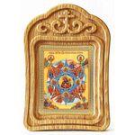 """Икона Божией Матери """"Неопалимая Купина"""", резная деревянная рамка - Иконы"""
