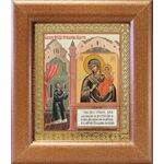 """Икона Божией Матери """"Нечаянная Радость"""", широкая рамка 14,5*16,5 см - Иконы"""