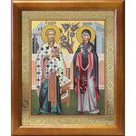 Священномученик Киприан и мученица Иустина, икона в рамке 17,5*20,5 см - Иконы