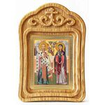 Священномученик Киприан и мученица Иустина, резная рамка - Иконы