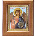 Михаил Архангел, Архистратиг, икона в широкой рамке 14,5*16,5 см - Иконы