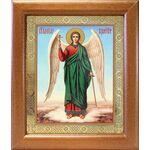 Ангел Хранитель на голубом фоне, икона в широкой рамке 19*22,5 см - Иконы