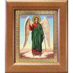 Ангел Хранитель на голубом фоне, икона в широкой рамке 14,5*16,5 см - Иконы