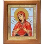 Икона Божией Матери «Семистрельная», широкая рамка 19*22,5 см - Иконы