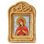 Икона Божией Матери «Семистрельная», резная рамка - Иконы