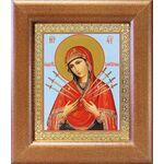Икона Божией Матери «Семистрельная», широкая рамка 14,5*16,5 см - Иконы